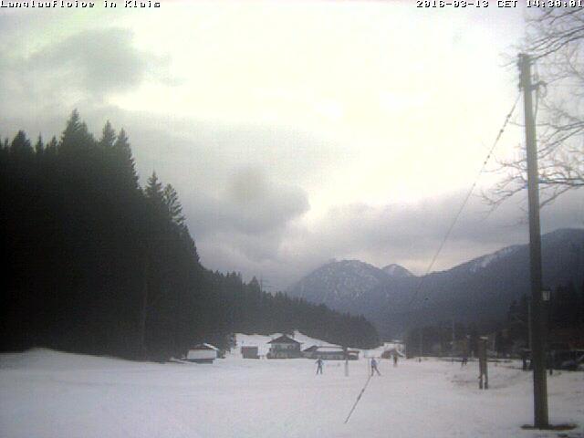 Webcam an der Loipe Klais - Kaltenbrunn