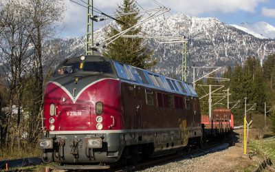 Diesellok V270.10 in Klais