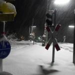Winterspaziergang - Bahnübergang Klais