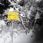 Winterspaziergang - Wegweiser an der Klaiser Straße