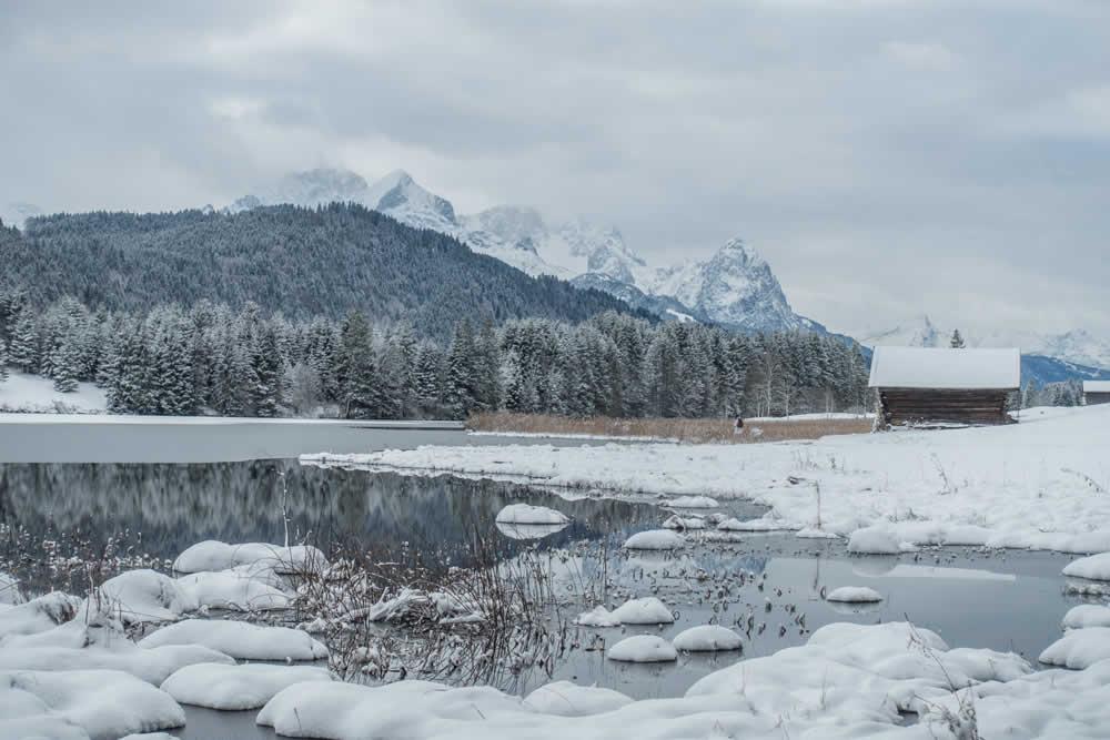 Winter mit Zugspitze