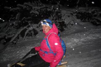 Schlittenfahren und Rodlen in der Alpenwelt