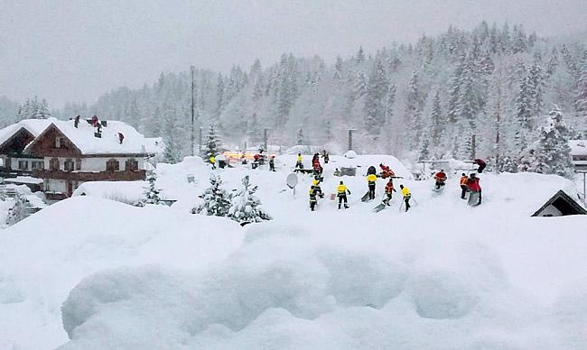 Schnee in Klais